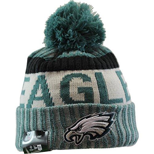 (New Era Philadelphia Eagles 2017 On-Field Sport Knit Beanie Hat/Cap Green)
