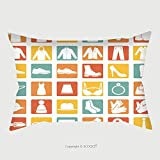Custom Satin Pillowcase Protector Vector Set Of Color Square Wear Icons 197730488 Pillow Case Covers Decorative