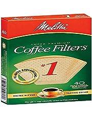 Melitta PA1 NB Super Premium Natural Brown Cone Coffee Filters, Green