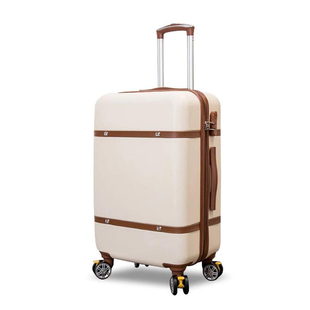 TLMYDD 小さな新鮮なユニバーサルホイールのパスワードのスーツケースベージュの韓国語版 トロリーケース (Color : Beige, Size : 22inch) B07SXDTSVJ Beige 22inch