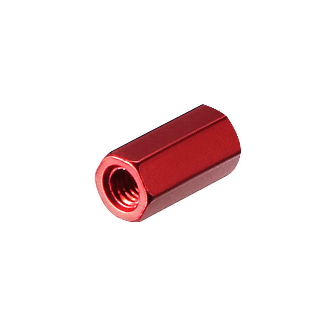 uxcell M3x45mm Aluminum Hex Standoff PCB Pillar Spacer,for RC Airplane,FPV Quadcopter,CNC,Red,10pcs