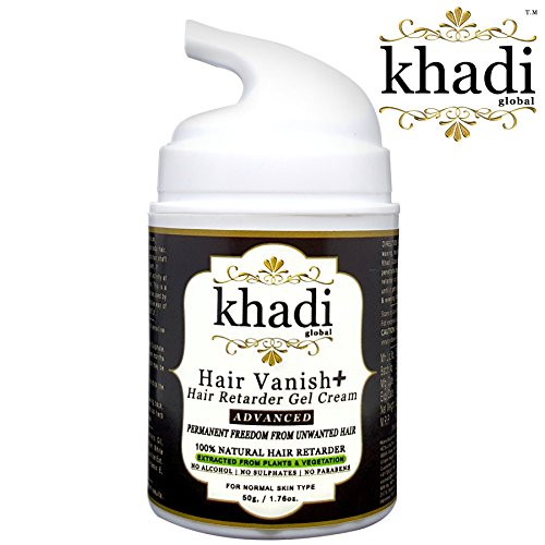Khadi Global Hair Vanish+ Advanced Hair Retarder Gel Cream For Body Areas Such As Hand, Leg, Ear, Stomach, Chest, Back With Normal Skin & Coarse Hair, Gives Permanent Freedom From Unwanted Hair