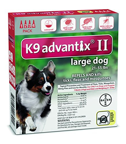 Advantix Flea And Tick Control For Dogs 20-55 Lbs 4 Month ()