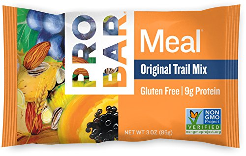 PROBAR - Meal Bar - Original Trail Mix - Organic Oats, Nuts, Seeds, Gluten Free, Non-GMO Project Verified, Plant-Based Whole Food Ingredients, 9g Protein, 6g Fiber - Pack of 12 Bars
