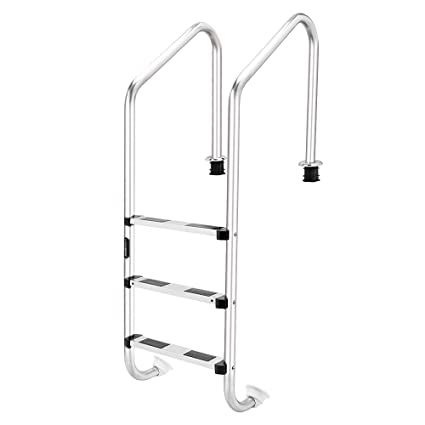 Amazon.com : Goujxcy Pool Ladder, in-Pool Plastic Ladder for ...