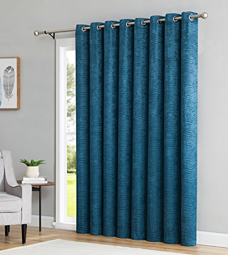 HLC.ME Chevron Thermal Blackout Room Darkening Energy Efficient Patio Door Curtain Panel - 100