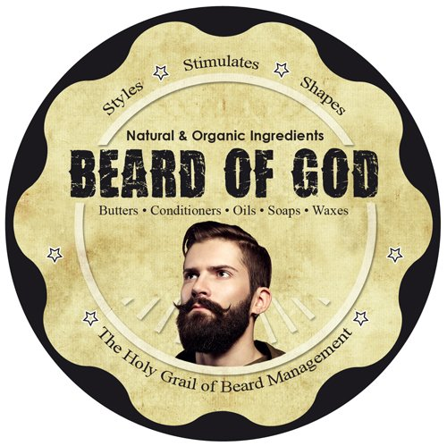 Chocolate | BEARD OIL Conditioner + BALM + BAR SOAP + WOOD COMB & BURLAP SACK by BEARD of GOD | Made to Order | ORGANIC | Tames Wild Beard Hairs & Softens Skin by Beard of God (Image #3)