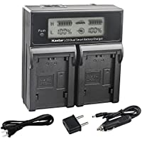 Kastar LCD Dual Fast Charger for Sony NP-FZ100 BC-QZ1 and Sony Alpha 9, Sony A9, Sony Alpha 9R, Sony A9R, Sony Alpha 9S, Sony A9S, Sony A7RIII, Sony A7R3 Digital Camera