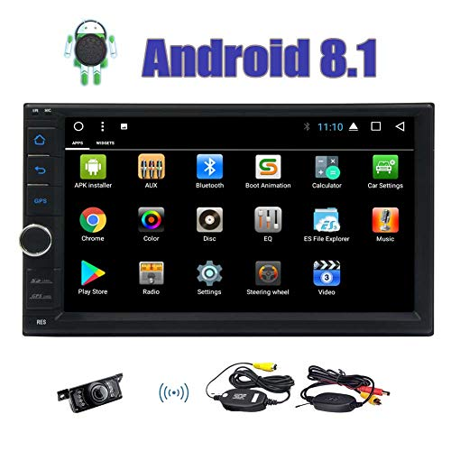 Android 8.1 Car Stereo – Eincar 7 Inch Octa Core 2GB RAM 32GB ROM Double Din In Dash Car Radio Video Player Bluetooth Wifi SWC Mirror Link GPS Navigation System with Wireless Backup Camera