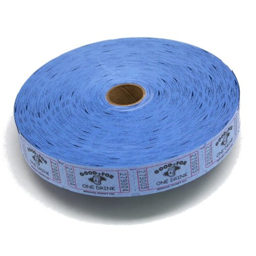 Blue Good For One Drink Ticket Roll : roll of 2000 for $<!--$7.95-->