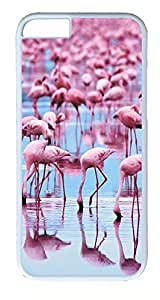 iPhone 6 Plus Cases, ACESR Plastic Hard Case Cover for Apple iPhone 6 Plus (5.5inch Screen) White Border Pink...