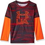 Under Armour Boys' Little Long Sleeve Slider Tee Shirt, Magma Orange Travel, 4