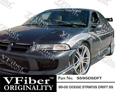 1995-2000 Dodge Stratus 4dr Body Kit Drift Side Skirt (Drift Vfiber)