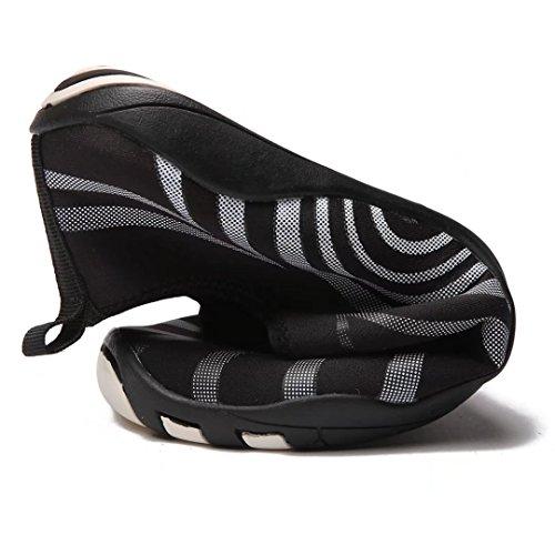 Hobibear Hommes À Séchage Rapide Slip-on Chaussures Deau Léger Pieds Nus Aqua Chaussettes Pour Yoga Plage Piscine Canotage Noir