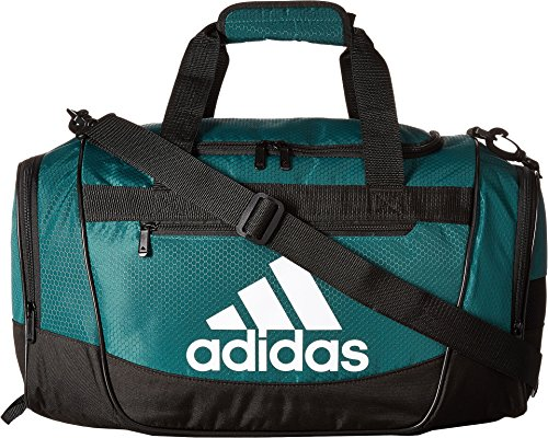 adidas Women's Defender III small duffel Bag, Green/Black/White, One Size (Under Armour Basketball Bag)