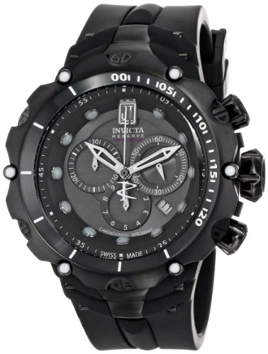 Men's  Jason Taylor Analog Display Swiss Quartz Black Watch - Invicta 14422