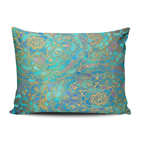 XIAFA Home Custom Pillowcase Euro Style Simple Decorations Sofa Throw Pillow Case Cushion Cover One Sided Printed Design 16X24 Inch (Set of -