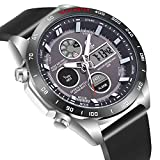 Men's Military Watches,Waterproof Outdoor Digital Dual Display Sports Wrist Watch with LED Backlight Black