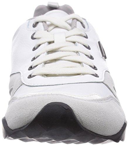 Diesel E-Dynagg Fashion Herren Schuhe Weiß Vaporious Grau
