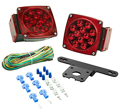 Lighting Technologies LT543 LED Submersible Light Kit-Trailers Under  80-Inches Wide-Red