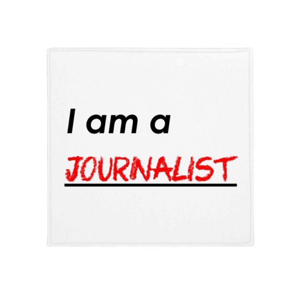 DIYthinker Quote I Am A Journalist Anti-Slip Floor Pet Mat Square Home Kitchen Door 80Cm Gift