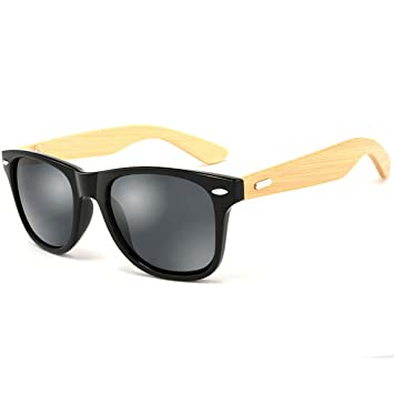 Gafas de Sol de bambú UV400 - Gafas de Madera Retro Unisex ...