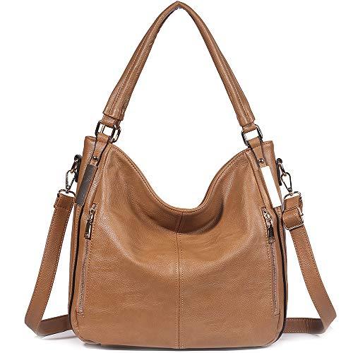 Women Handbag JOYSON PU Leather Crossbody Bags Top Handle Tote Shoulder Bags Camel ()