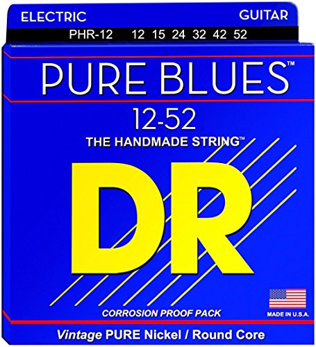 DR Strings PHR12 Pure Blues Nickel Extra Heavy Electric Guitar Strings Nickel Wrap Electric Guitar Strings