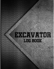 Excavator Log Book: Excavator Inspection Checklist, Excavator Log Book Template, 8.5 x 11 in, Large Log Book