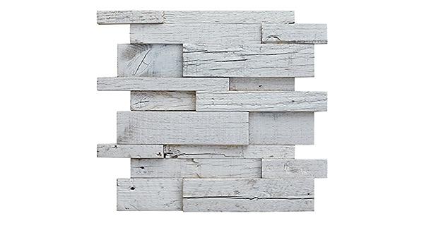 Decostyle RNX-Decape Mosaico decorativo de madera, Blanco, 30 ...