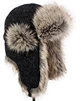lethmik Winter Hats Faux Fur Hunting Trapper Hat Unisex Warm Aviator Bomber Hat
