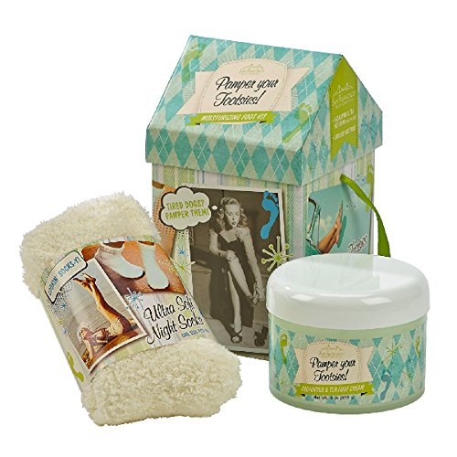 San Francisco Soap Company Eucalyptus & Tea Foot Therapy Kit w/Overnight Socks ()
