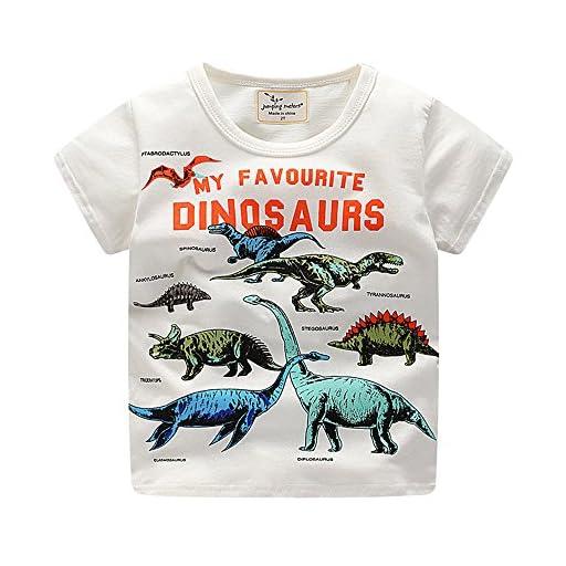 (プタス)Putars ベビー服 子供服 Tシャツ 男の子 半袖 恐竜柄 夏 可愛い パーティー 記念日 プレゼント 18ヶ月-6歳