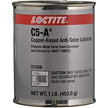 Loctite 51006 Copper LB 8008 C5-A Anti-Seize Lubricant, -20 Degree F Lower Temperature Rating to 1800 Degree F Upper Temperature Rating, 1 lb. Can