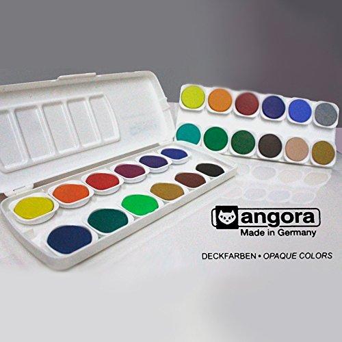 Acuarelas profesional angora 24 Pastillas Colores Opacos