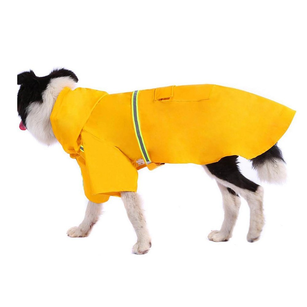 Yellow Medium Yellow Medium Dog Raincoat Autumn And Winter Clothes Four Feet Pet Large Dogs Waterproof Poncho,Yellow-M