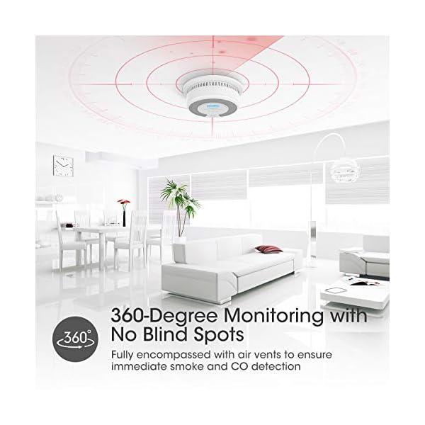 51zmN8MRBQL X-Sense Rauch- CO Melder 10 Jahrer Rauch- und Kohlenmonoxid-Melder, mit LCD Anzeige und Prüftaste, 360°Überwachung, Auto…