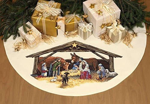 Dimensions(R) 45 Inch Counted Cross Stitch - Nativity Scene Tree Skirt