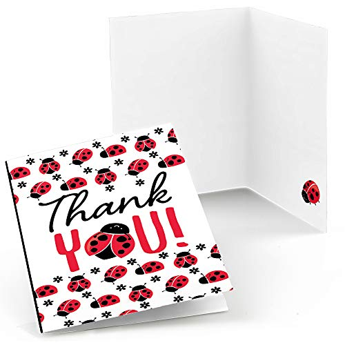 (Big Dot of Happiness Happy Little Ladybug - Baby Shower or Birthday Party Thank You Cards (8 Count))