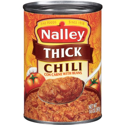 Nalley Thick Chili Con Carne with Beans, 14-Ounce Cans (Pack of 8)