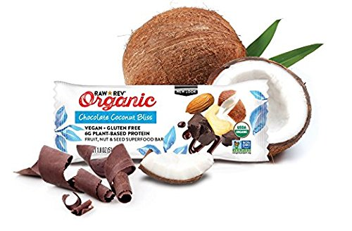 Raw Rev Organic Vegan, Gluten-Free Fruit, Nut, Seed Bars – Chocolate Coconut Bliss 1.8 ounce (Pack of 144)