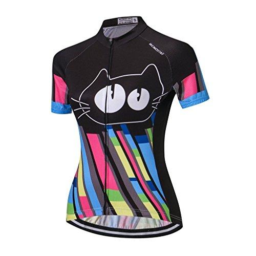 Women Cycling Jersey Short Sleeve Bike Bicycle Clothing Shirt Black