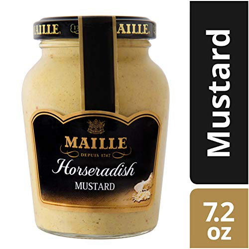 Maille Mustard, Horseradish, 7.2 oz, 6 Count