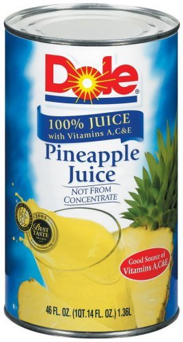 Dole 100% Pineapple Juice 46 oz (Pack of 12) by Dole