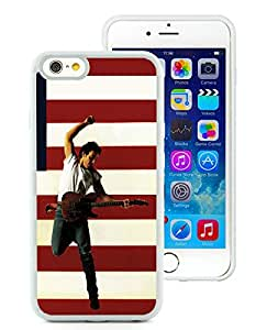 iPhone 6 4.7 inch Bruce Springsteen White TPU Screen Phone Case Unique and Fashion Look