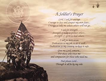 Amazon army soldiers prayer gift for veterans day christmas amazon army soldiers prayer gift for veterans day christmas birthday fathers day husband son dad military posters prints stopboris Gallery