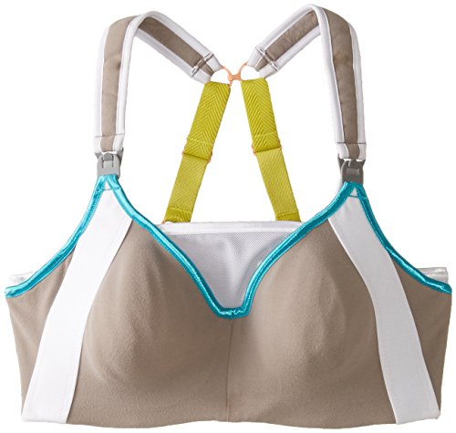 Cake Lingerie Lemon Zest Nursing Sports Bra - Lencería para mujer, color mehrfarbig - multicoloured (grey/white), talla 105GG