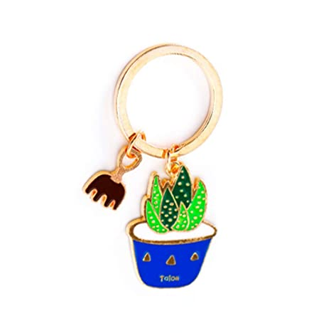 oyfel Metal llavero Trousseau port llave forma de cactus verde planta de carne de Navidad San Valentín coche recuerdo regalo colgante de accesorios de ...