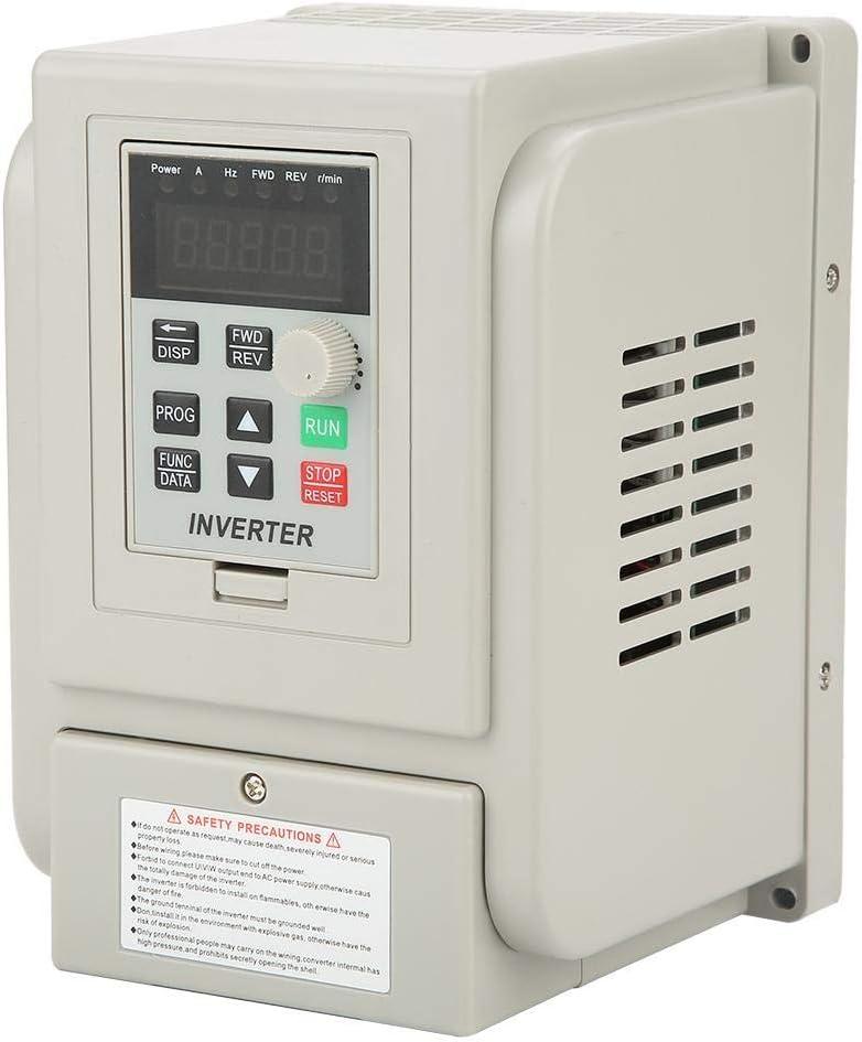 Wechselstrom VFD Antrieb VFD Inverter 1.5 kW 220 V Frequenzumrichter Professioneller VFD Frequenzumrichter mit PWM Regler f/ür Motor Speed Control
