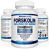 Forskolin Extract for Weight Loss 250MG - 100% Pure Maximum Strength Fat Burner and Carb Blocker (60 Capsules) Research Verified Coleus Forskohlii Supplement - Buy BioScience Nutrition Online